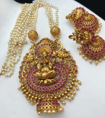 Gold Plated Pearl Chain Set