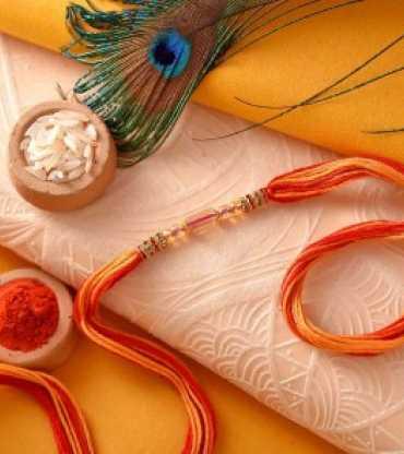 Crystal Beads And Stone Work Rakhi