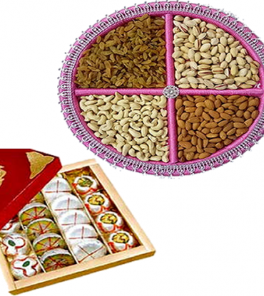 Mix Dry Fruits And Mix Sweets