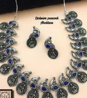 Antique Peacock Necklace Set