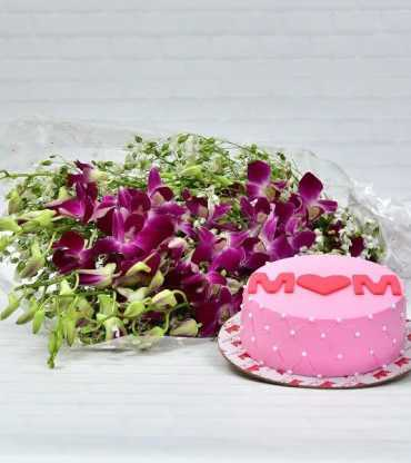 orchids-with---strawberry-cake
