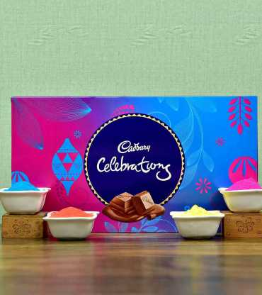 Cadbury Celebration Pack with Colorful Gulal