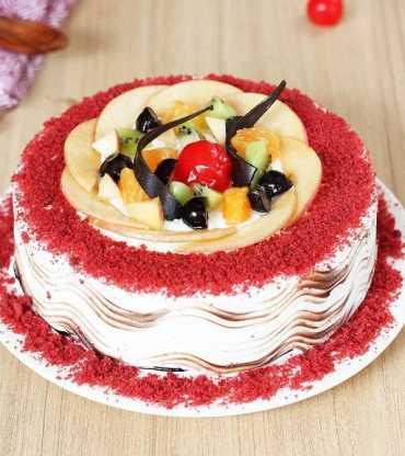 Fruity Red Velvet Cake