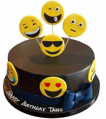 Smiley Face Emoji Cake