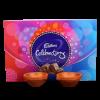 Set of Clay Diya with Cadbury Celebration Pack