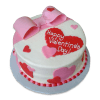 Special Valentines Day Bow Cake