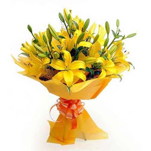 yellow-20lily-20bouquet