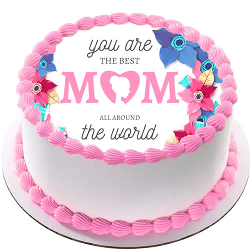 Enjoyable Order Mothers Day Cake Online Send Photo Cake To Your Mother On Funny Birthday Cards Online Alyptdamsfinfo